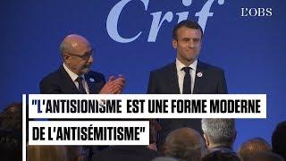 Antisémitisme : ce que Macron a dit au Crif