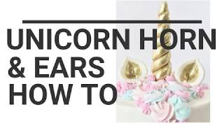 How to make Unicorn Horn &amp Ears