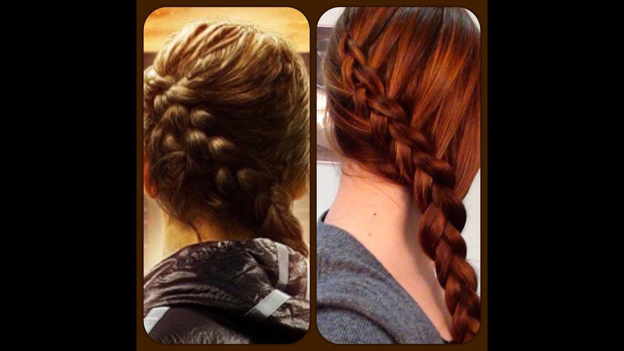 Katniss (Hunger Games) Braid Hair Tutorial - YouTube