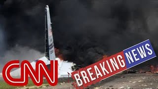 [Breaking News & Politics]Video shows smoke from military plane crash
