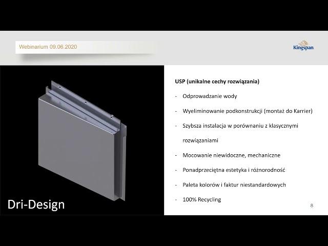 Kingspan Dri Design   Swoboda w projektowaniu współczesnych form architektonicznych