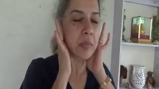 kapalrandradhauti - facial sinuses warming exercise