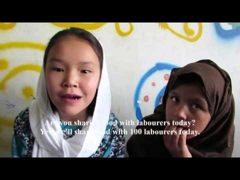 #Enough! Afghan Street Kids Share Food with Labourers