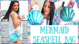 How to make a Seashell Bag - Holographic mermaid DIY