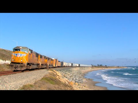 HD: Santa Barbara and Coast Subdivision Railfanning in August 2016