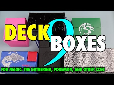 MTG - Deck Boxes 9: BCW, Dex Protection, and Time Walker for Magic: The Gathering, Pokemon