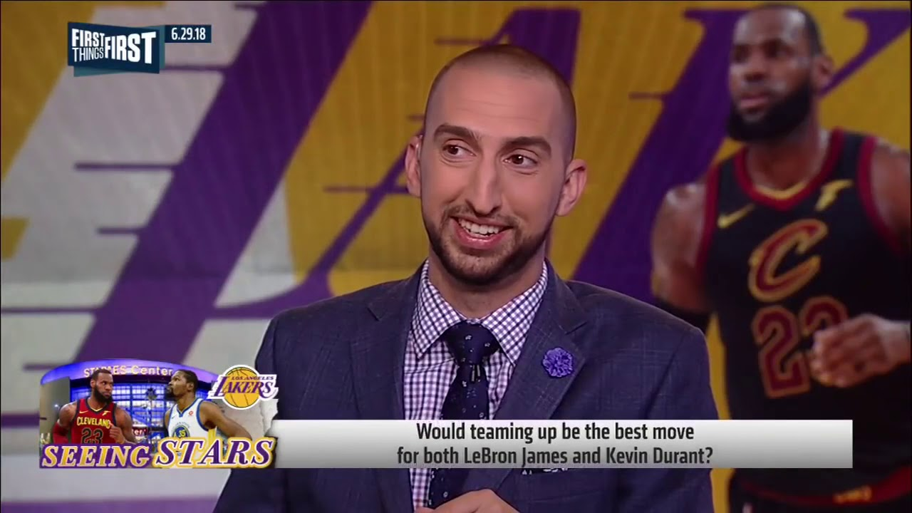 16028c5c57b FIRST THINGS FIRST 6.29.18 Nick Wright on LeBron and KD in LA ...