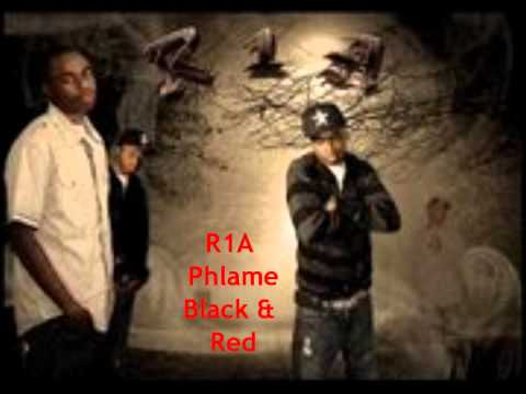 R1A Phlame Black & Red
