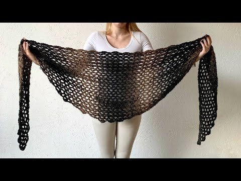 SIMPLE SCARFIE SHAWL - FREE CROCHET PATTERN