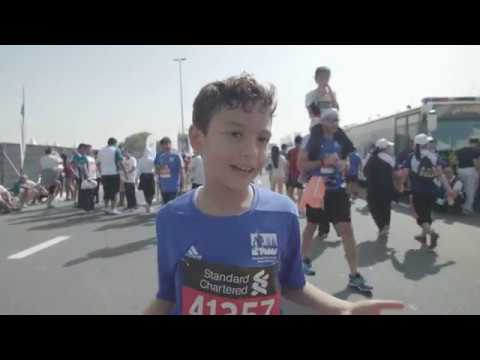 Runners After Completing The Standard Chartered Dubai Marathon 2018