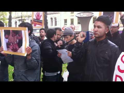 Protest infront of Pakistan embassy stockholm sweden 3rd oct