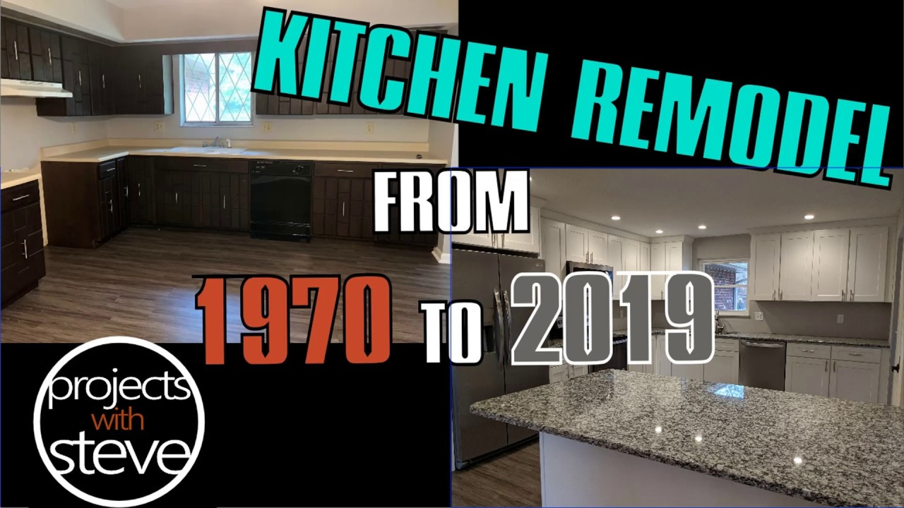 Before After Kitchen Remodel 1970 To 2019 Youtube