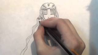 How to draw an angel step by step (praying)