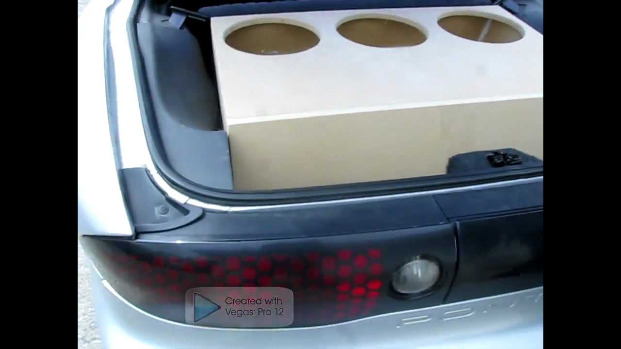 How To Build A Sub Box >> SPEAKER BOX FOR 3-12'S PT2 - YouTube