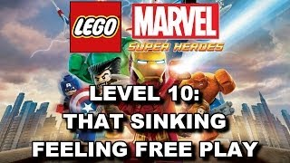 LEGO Marvel Super Heroes: Level 10 That Sinking Feeling FREE PLAY (All Minikits & Stan Lee in Peril)