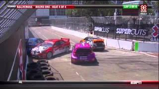 2012 X-Games RallyCross Crashes/Contact Highlights