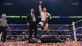 wwe survivor series 2015 full show review sheamus cash in after reigns wins wwe world title