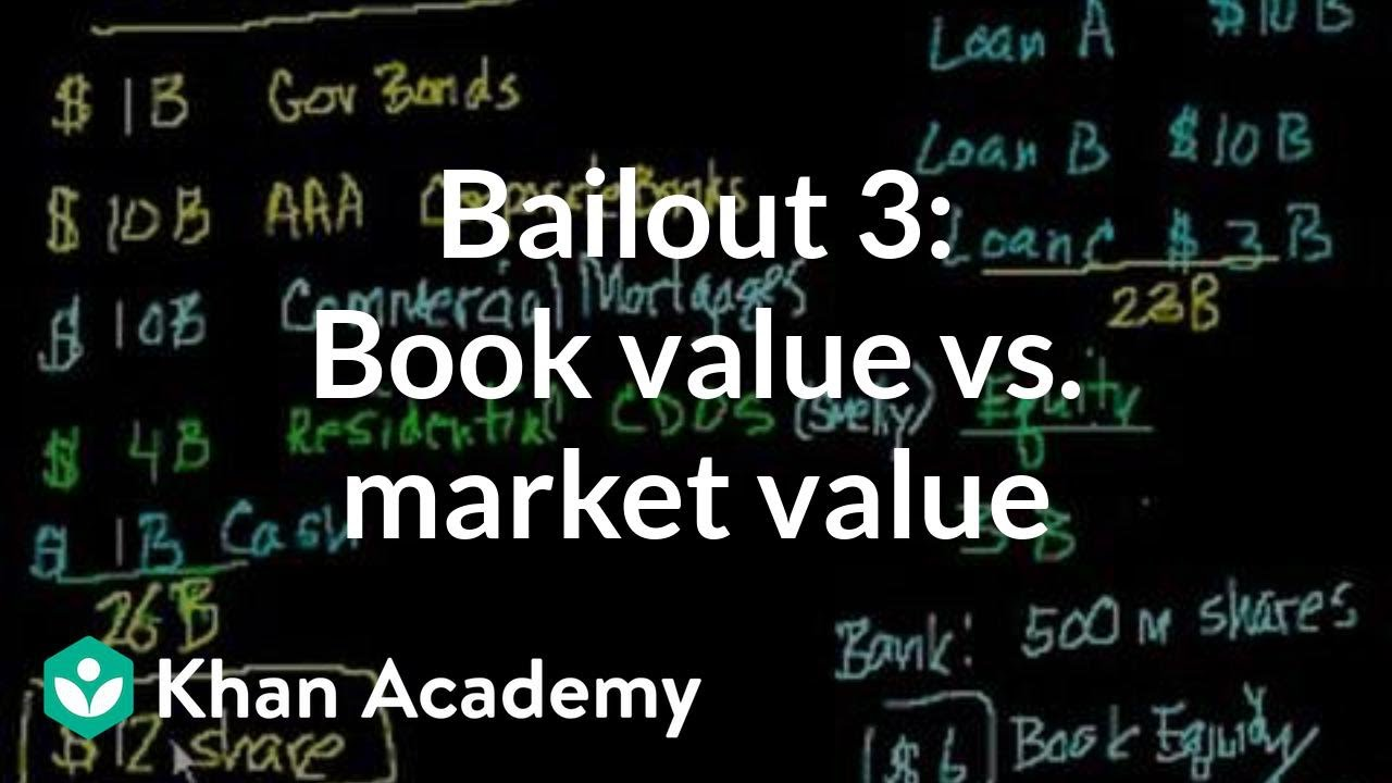 bailout 3 book value vs market value youtube. Black Bedroom Furniture Sets. Home Design Ideas