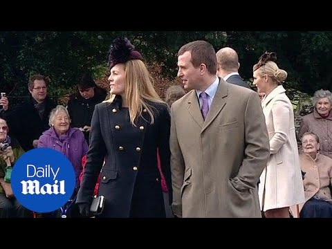 Peter Philips and his wife Autumn Kelly walk hand-in-hand - Daily Mail