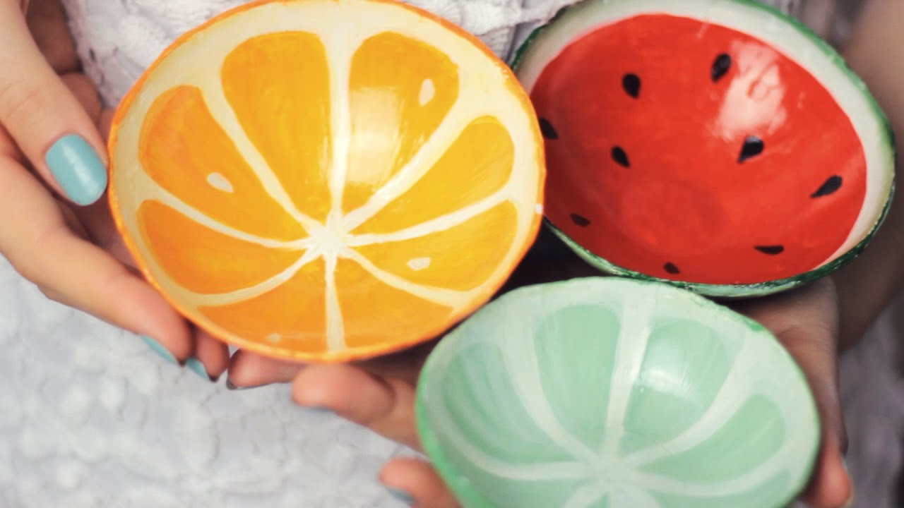DIY: Clay Fruit Bowls from Scratch - Watermelon, Orange ...