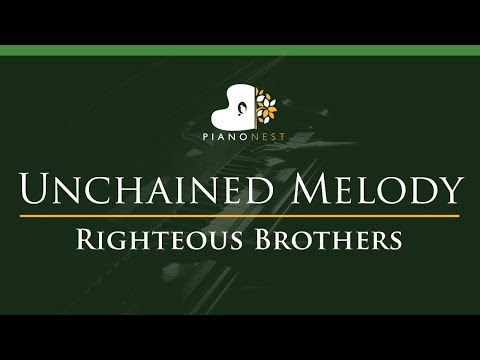 Righteous Brothers - Unchained Melody - LOWER Key (Piano Karaoke / Sing Along)