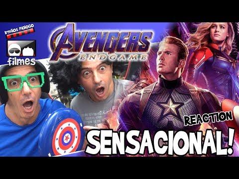 🎬 SENSACIONAL Vingadores Ultimato Trailer 3 Reaction - Irmãos Piologo Filmes