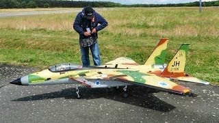 F-15 EAGLE GIANT RC SCALE MODEL TURBINE JET FLIGHT DEMONSTRATION / RC Airshow Gatow Germany 2014