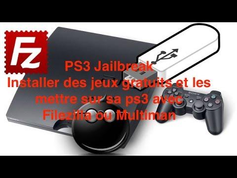 PS3 (Tuto) télécharger un jeu d'internet et le mettre dans la ps3 avec multiman (usb) ou filezilla
