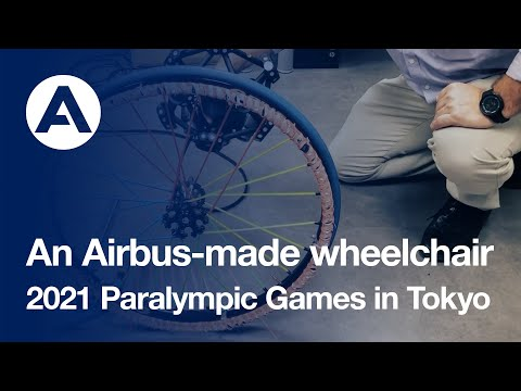An Airbus-made wheelchair for the 2021 Paralympic Games in Tokyo