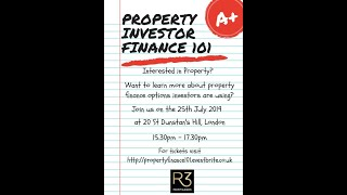 Property Investor Finance 101 Seminar - 25th July 2019