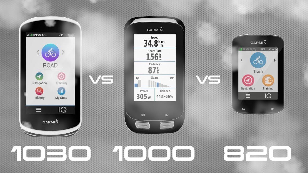 Garmin Edge 1030 vs 1000 vs 820