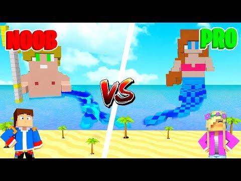 Minecraft NOOB VS PRO : MERMAID in Minecraft!