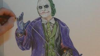 Drawing Joker - Batman Dark Knight - Speed Painting