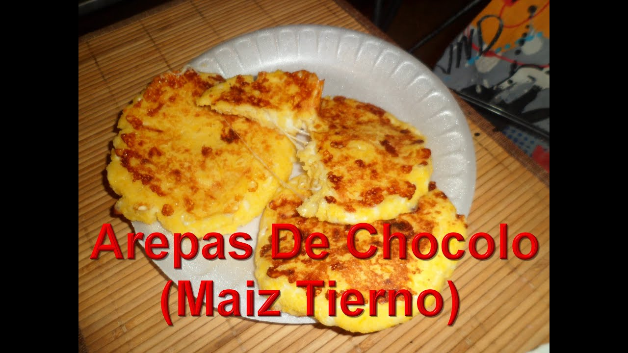 Arepas De ChocoloDe Maiz Tierno  YouTube