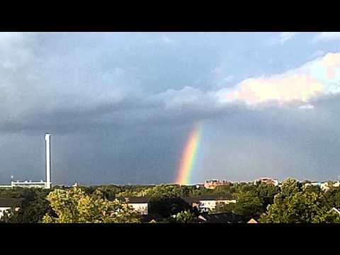 disappearing rainbow - 10x time lapse