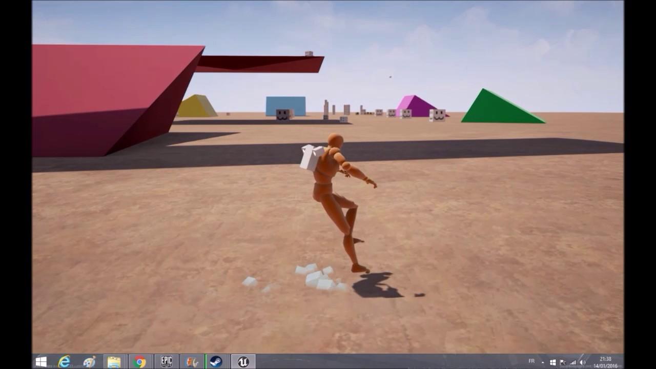 Jetpack-ball character movement prototype | Valentin Heutte