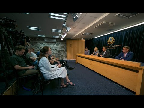 Valitsuse pressikonverents, 3. august 2017