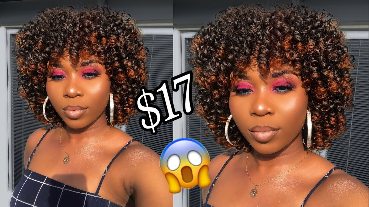 😱 $17 Afro Curly Wig Affordable Synthetic Wig Amazon Aisi Be