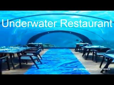 Underwater Restaurant In Hurawalhi , Maldives   Anas MAG travel VLOG