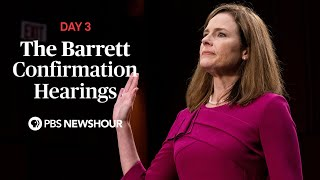 WATCH: Judge Amy Coney Barrett Supreme Court confirmation hearings - Day 3