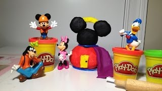 MICKEY MOUSE CLUBHOUSE Disney Play-Doh How to Make a Light Up Mickey Mouse Clubhouse Video Parody