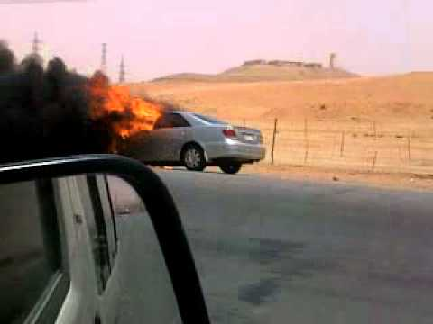 car accident in riyadh highway: Video from My Phone