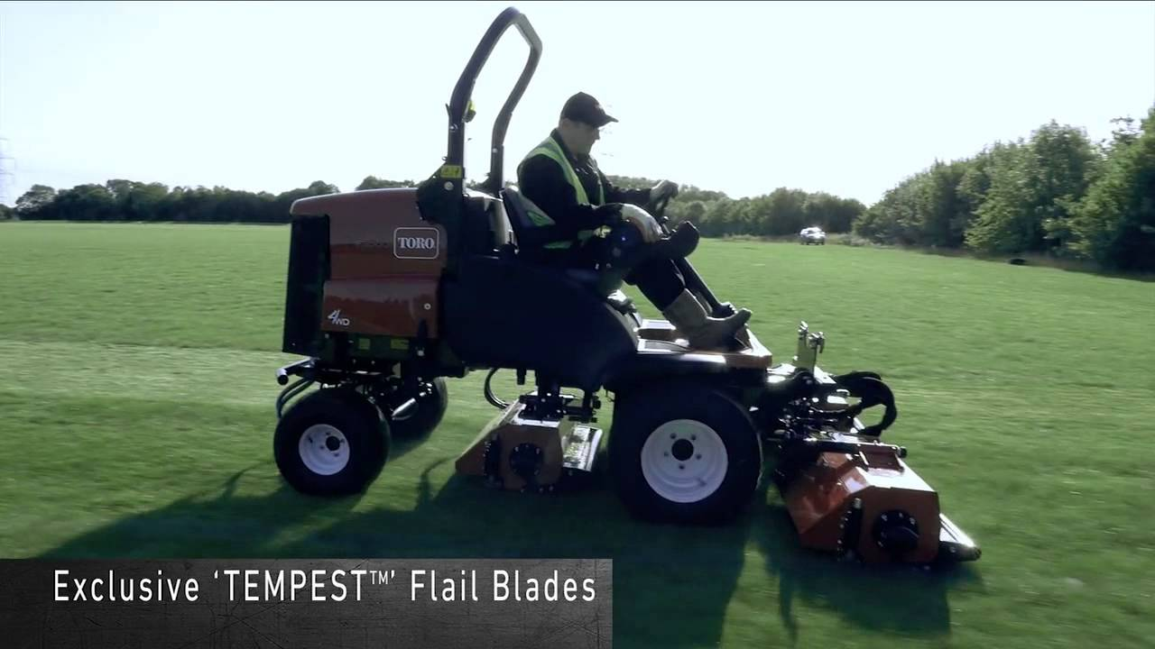 The New LT-F3000 triple-flail mower from Toro