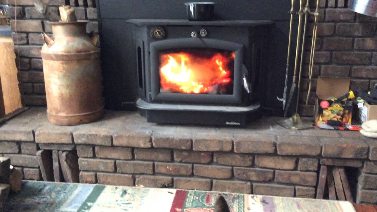 buck 91 catalytic wood stove installed 2014 youtube