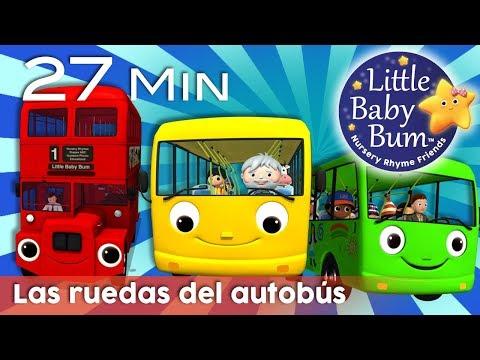 Las ruedas del autobús - Todas las versiones | Canciones infantiles | LittleBabyBum