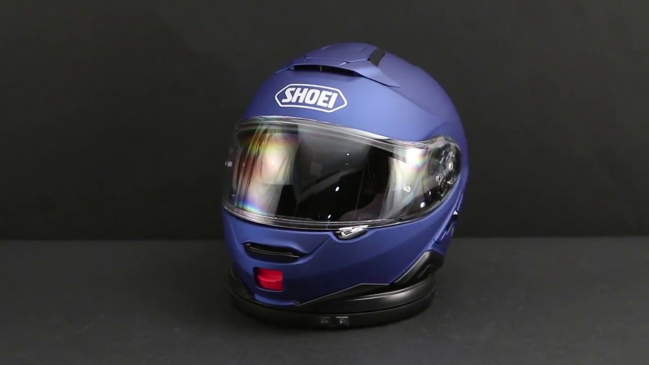 Shoei Neotec Ii Matte Blue Metallic Modular Helmet 360 View Youtube