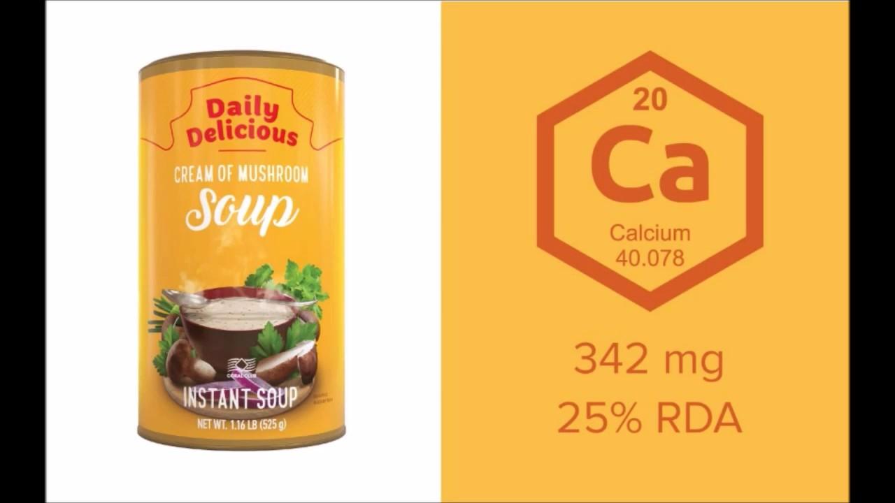 Дейли Делишес крем суп с белыми грибами | диетические коктейли для похудения смарт