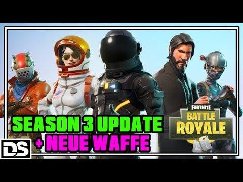 Fortnite Battle Royale Deutsch PS4 - Season 3 Battle Pass Update + neue Waffe (Fornite Gameplay)