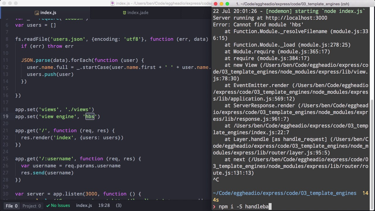 2 node js getting started with express template engines youtube 2 node js getting started with express template engines pronofoot35fo Choice Image