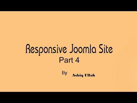 How to Build a Responsive website in Joomla 2017-2018 Part 4 ?
